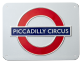 London Underground Sign,  Piccadilly Circus , Medium Metal Sign (GWC)